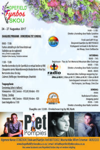 2017 Fynbos skou program